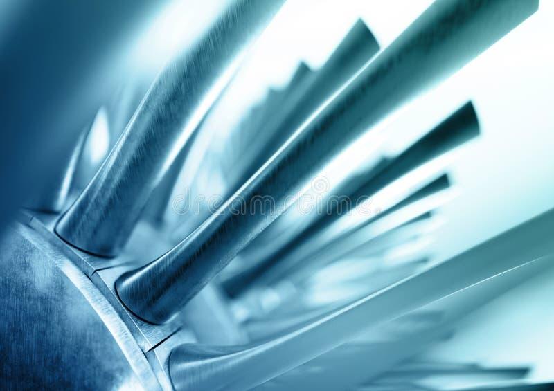 Голубая абстрактная промышленная предпосылка перевод 3d газовой турбины бесплатная иллюстрация