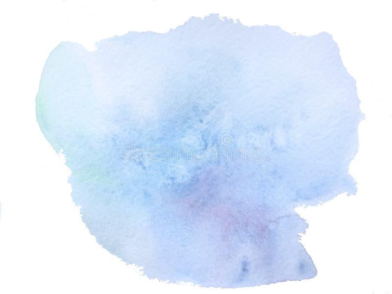 голубая акварель мытья