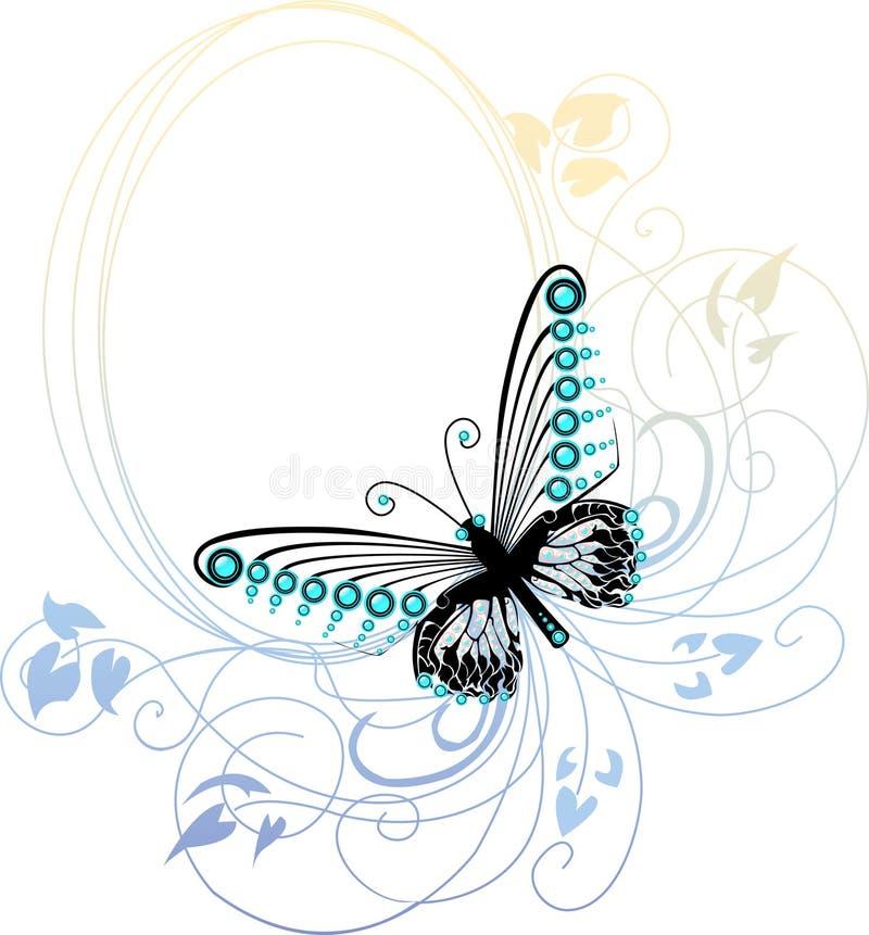 голубая бабочка иллюстрация вектора