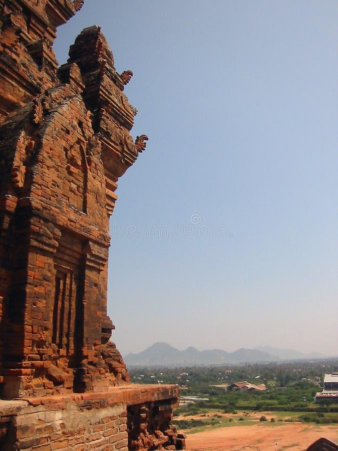 голубая башня Вьетнам неба cham стоковое изображение rf