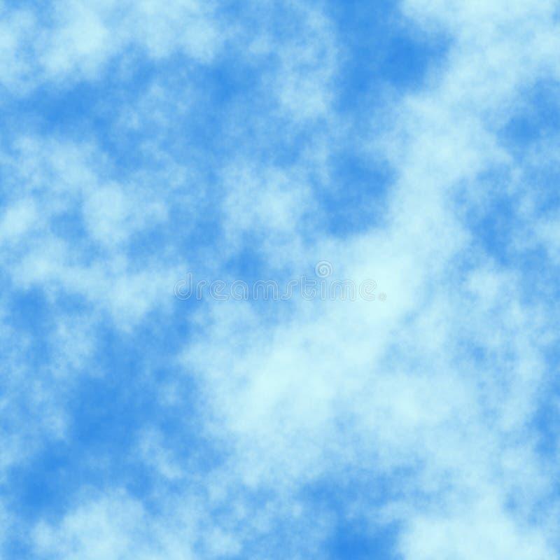 голубая безшовная плитка текстуры неба иллюстрация штока