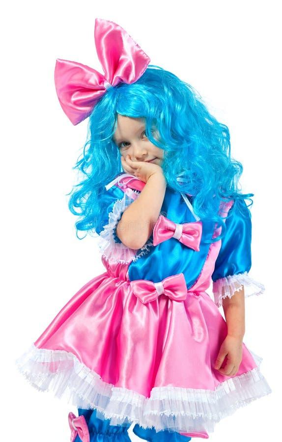Download голубая белизна волос девушки Стоковое Изображение - изображение насчитывающей счастье, выражение: 17612457