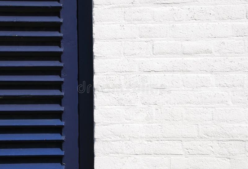 голубая белизна стены штарки стоковые фотографии rf
