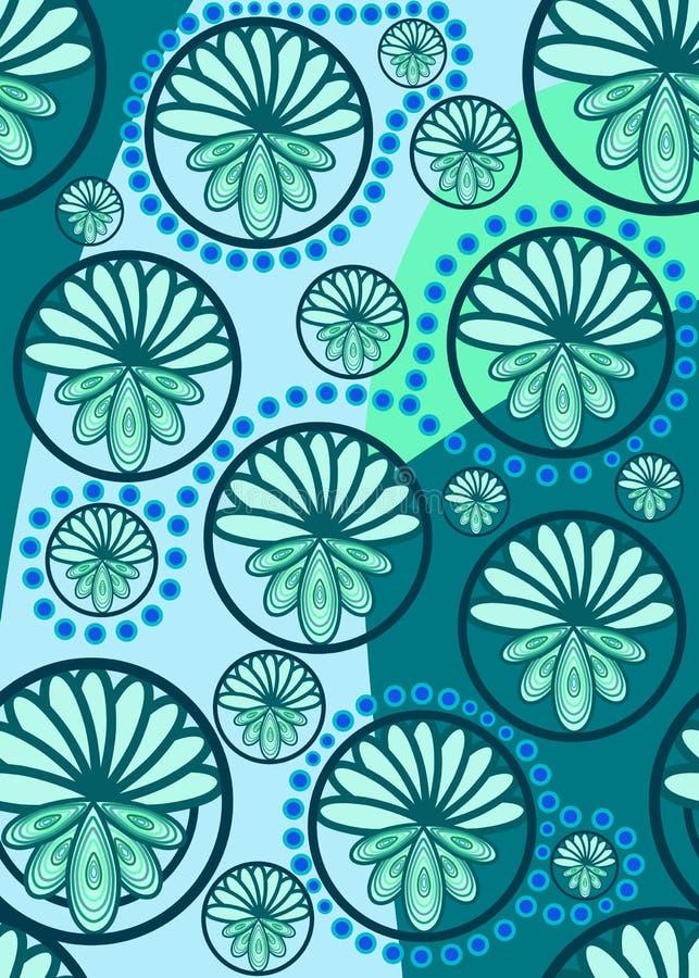 голубая бирюза картины paisley иллюстрация штока