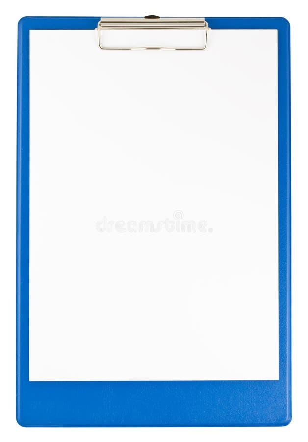 голубая бумага clipboard стоковые изображения rf