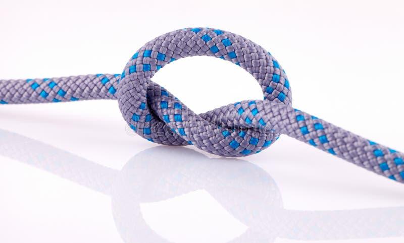 голубая веревочка узла стоковое изображение rf