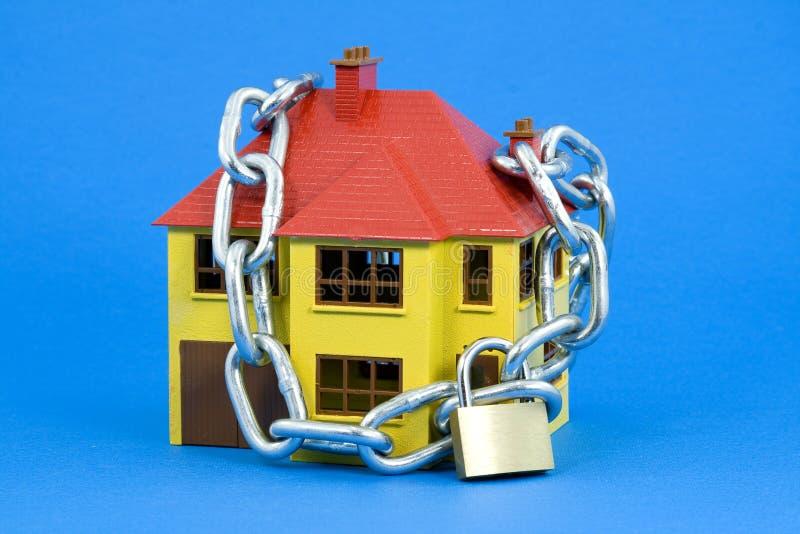 голубая версия домашней обеспеченностью стоковая фотография