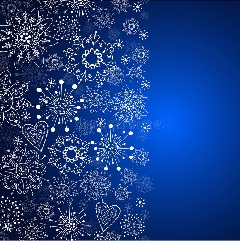 Голубая вертикальная предпосылка рождества иллюстрация штока