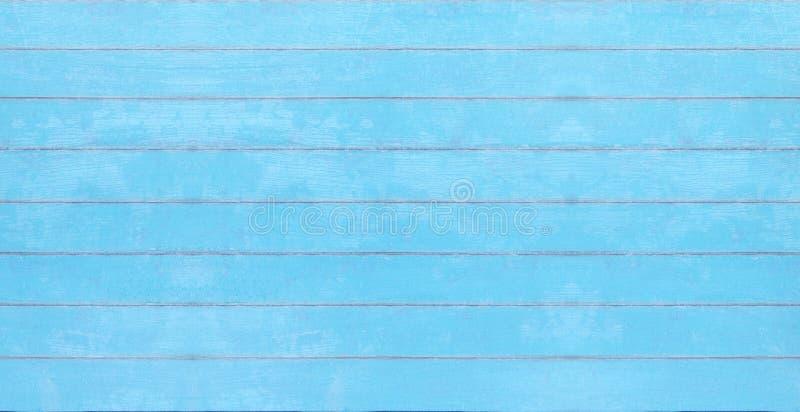 Голубая винтажная деревянная текстура, предпосылка доски лета стоковая фотография rf