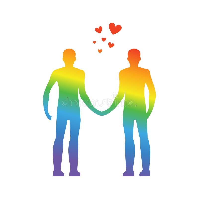 голубая влюбленность Сердце LGBT Руки владением парней навсегда совместно вектор бесплатная иллюстрация