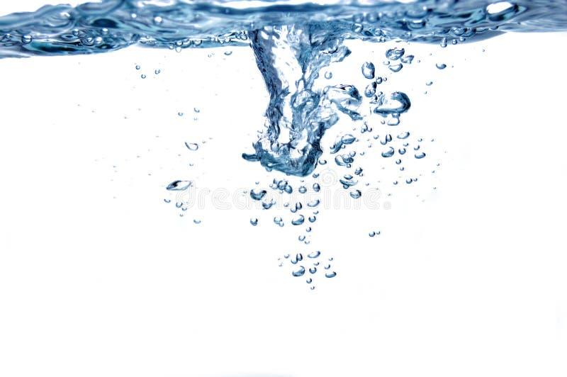 голубая вода пузырей стоковая фотография rf