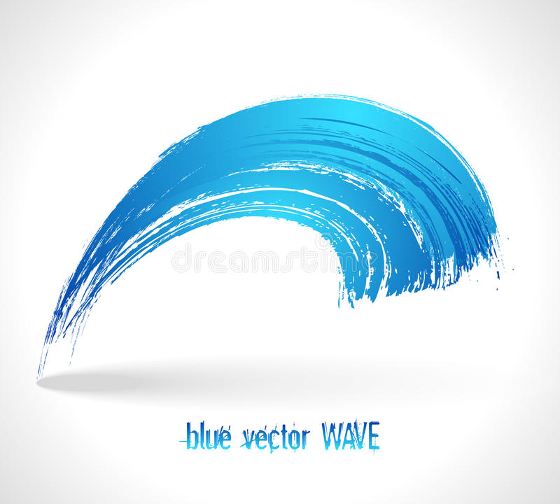 Голубая волна вектора иллюстрация штока