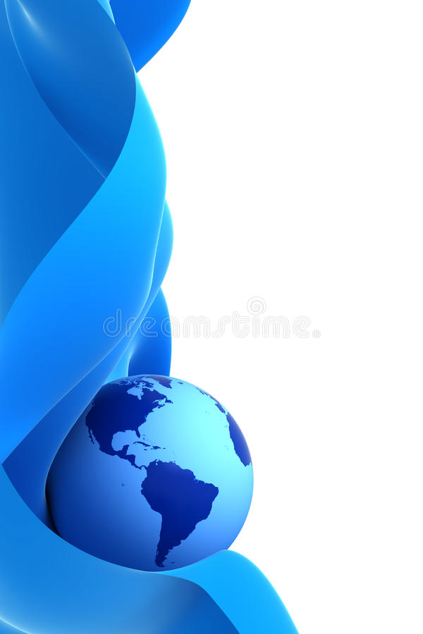 голубая волна земли бесплатная иллюстрация