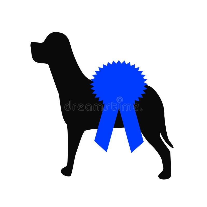голубая выставка тесемки собаки бесплатная иллюстрация