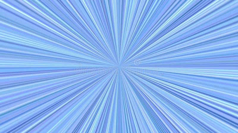 Голубая геометрическая абстрактная предпосылка starburst от striped лучей иллюстрация штока