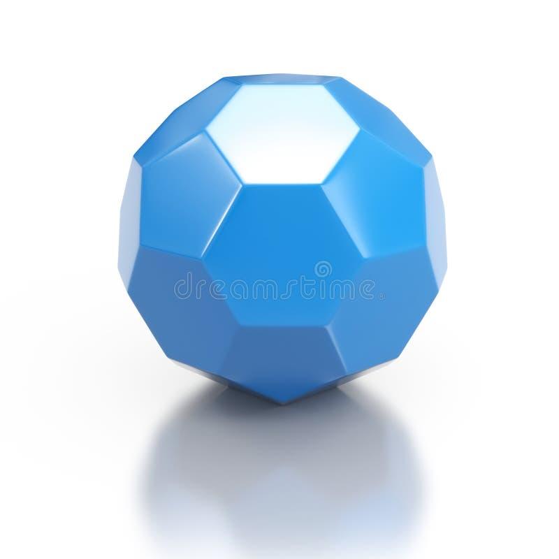 Голубая геометрическая форма 3d иллюстрация штока