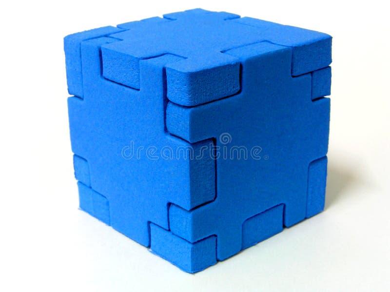 голубая головоломка стоковые фотографии rf