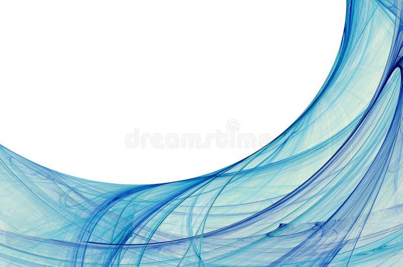 голубая граница электрическая иллюстрация вектора