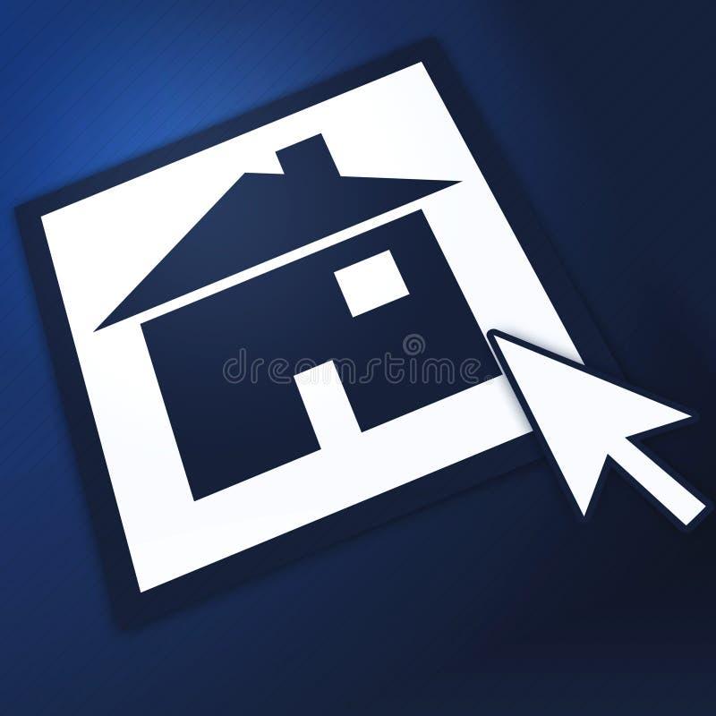 голубая домашняя страница иллюстрация штока
