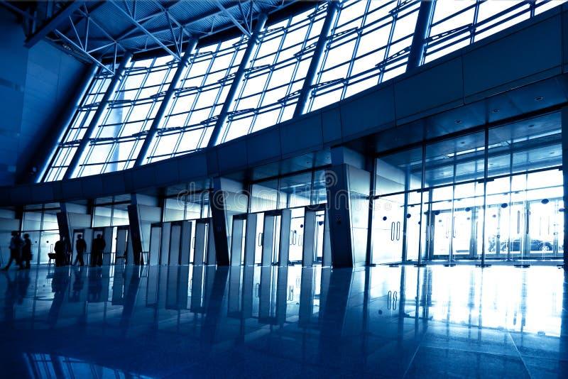 голубая зала широко стоковые изображения rf