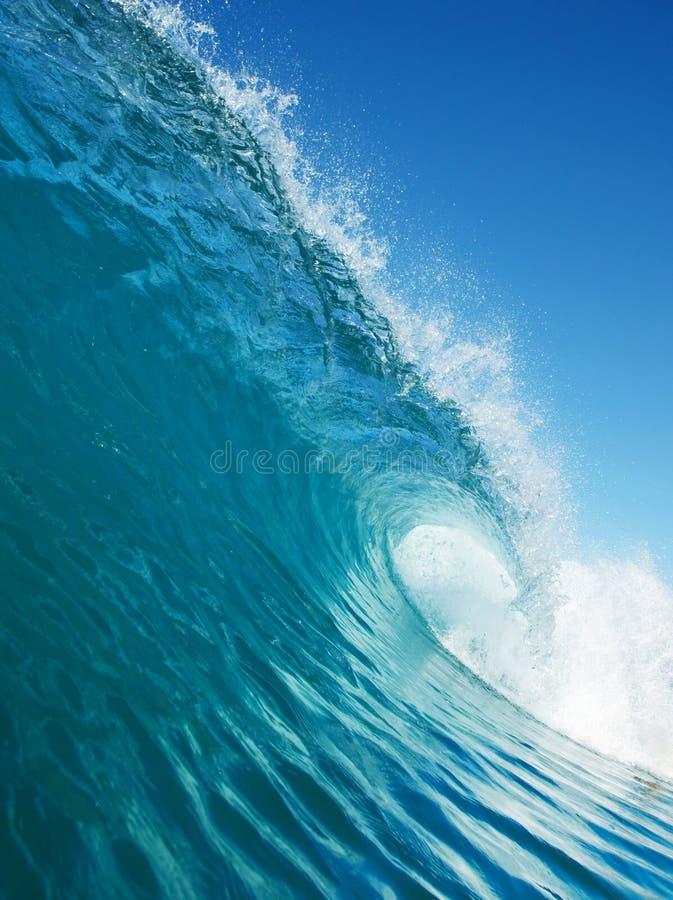 голубая занимаясь серфингом волна стоковое изображение rf