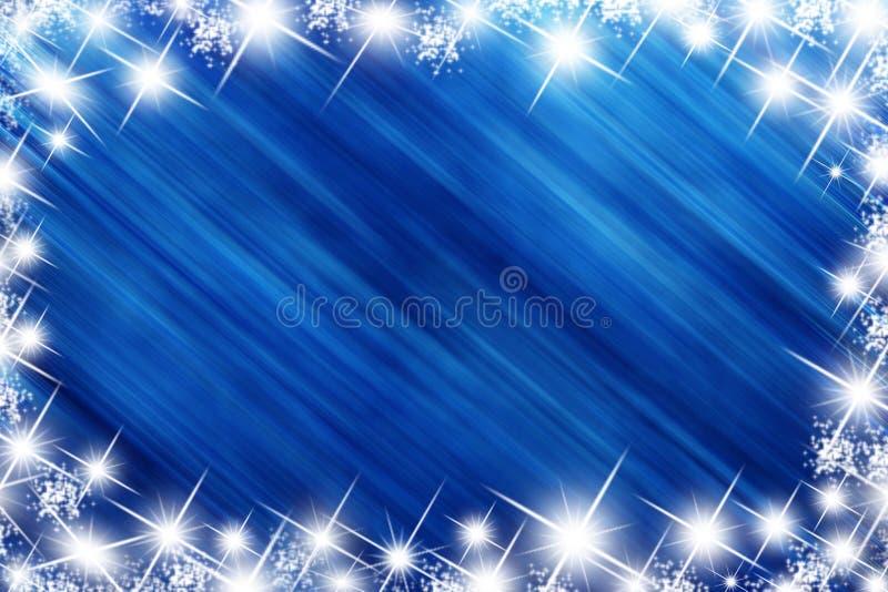 голубая звезда праздника стоковое изображение rf
