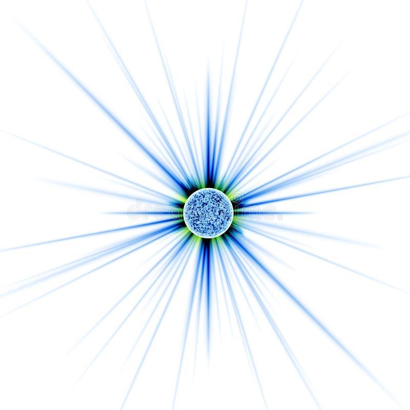голубая звезда иллюстрация вектора