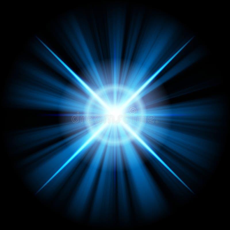 голубая звезда иллюстрация штока