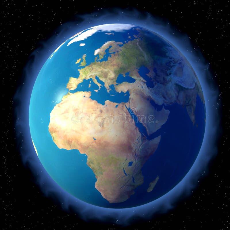 голубая земля иллюстрация вектора