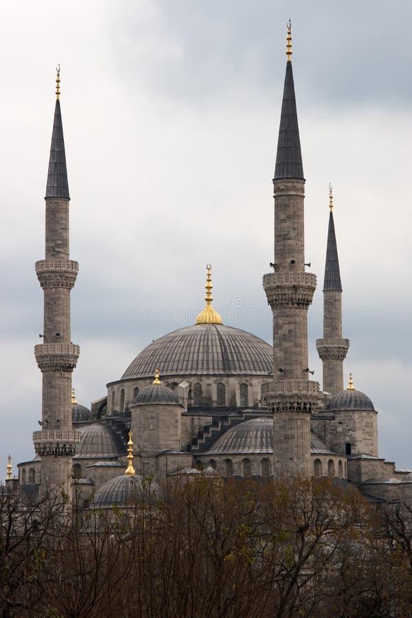голубая зима мечети стоковая фотография