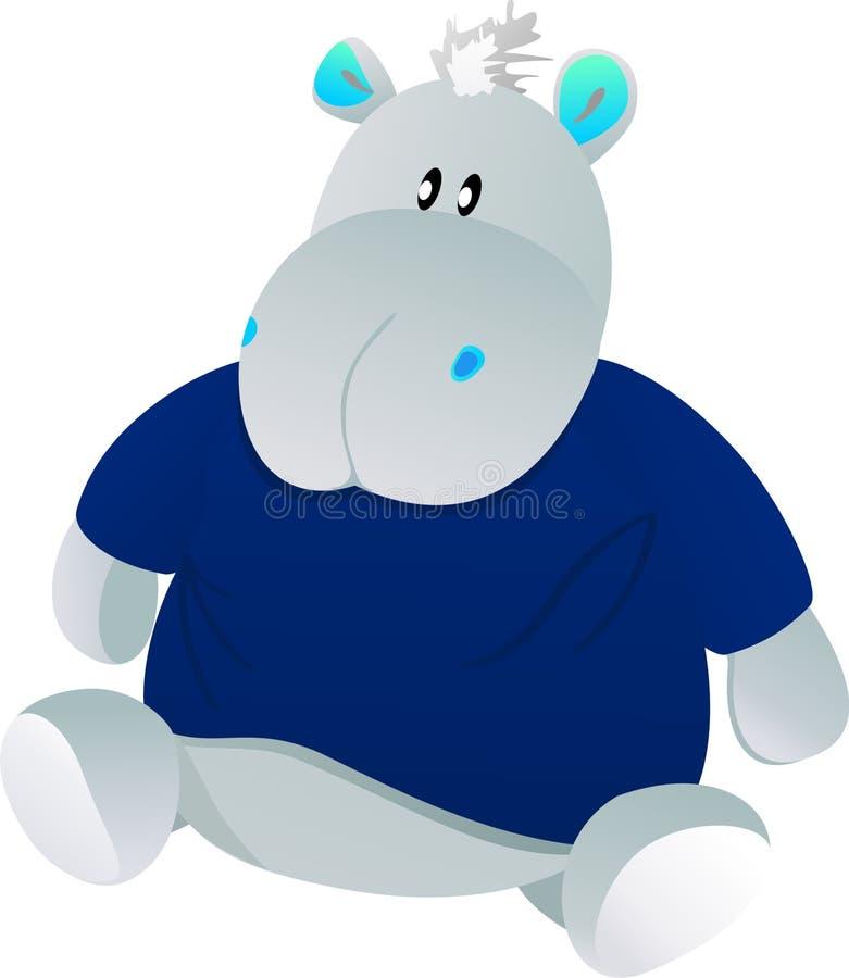 голубая игрушка гиппопотама бесплатная иллюстрация