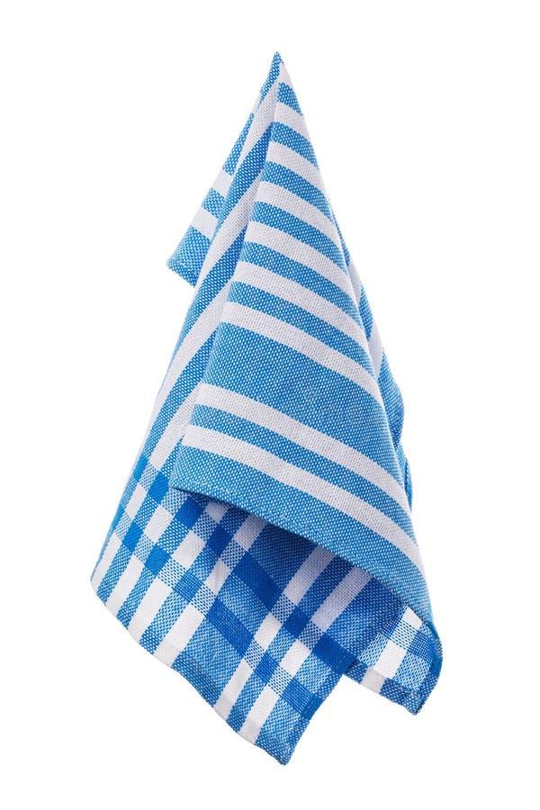 Голубая изолированная салфетка хлопка стоковое изображение