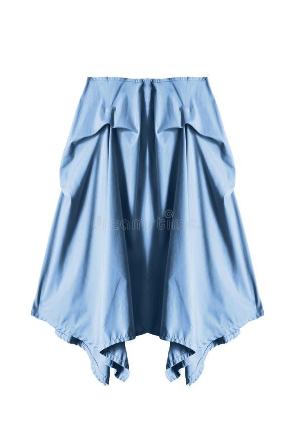 Голубая изолированная юбка стоковое изображение rf