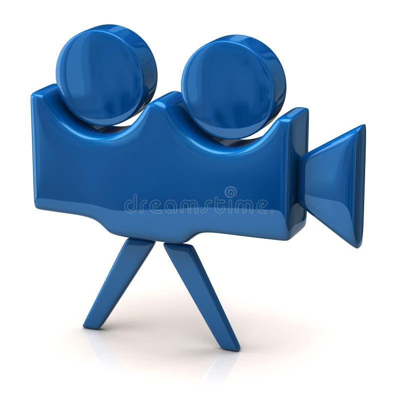 Голубая икона киносъемочного аппарата бесплатная иллюстрация