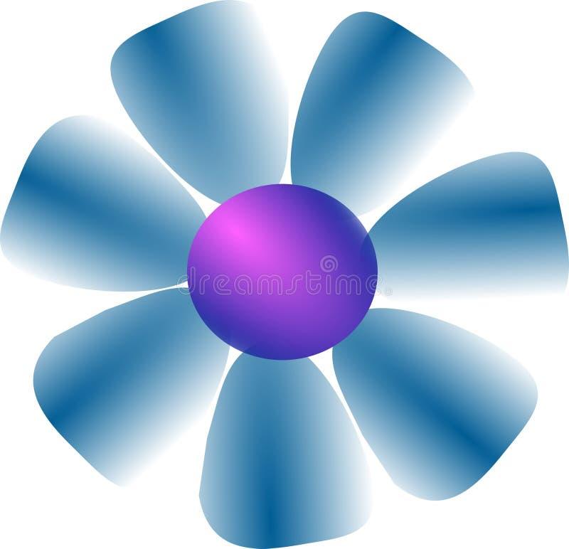 Голубая иллюстрация vektor цветка иллюстрация вектора