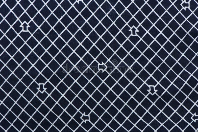 Голубая и белая checkered ткань картины стоковые фото