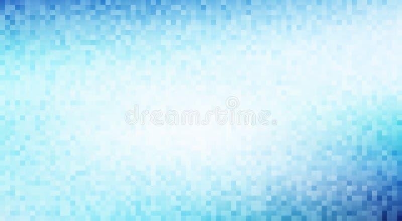 Голубая и бледная предпосылка пиксела бирюзы покрасьте вектор возможных вариантов картины различный иллюстрация вектора