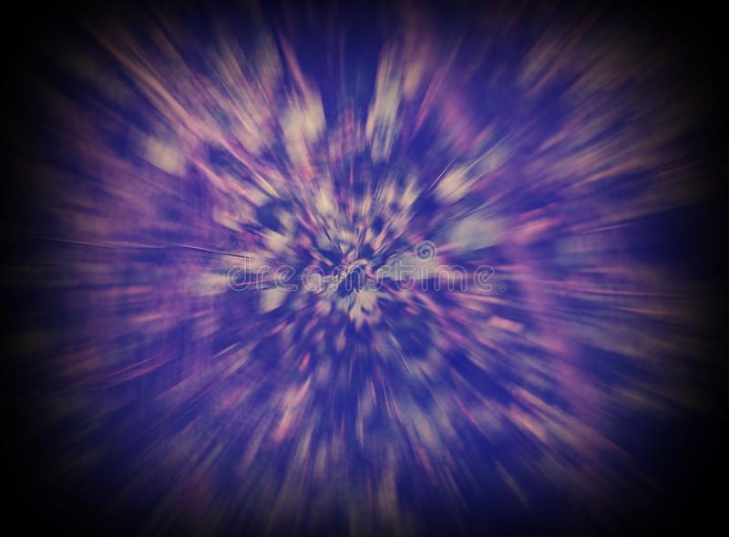голубая и фиолетовая абстрактная предпосылка преднамеренно расплывчатая стоковые изображения