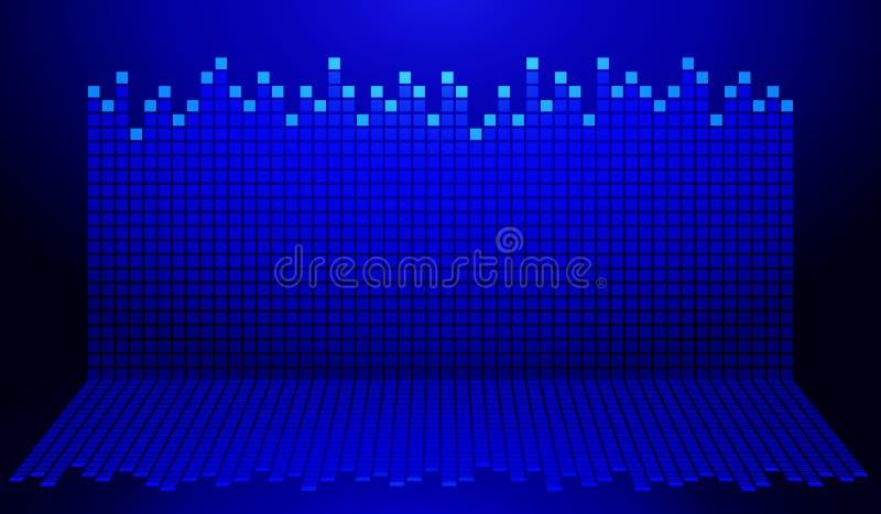 Голубая и черная диаграмма иллюстрация штока