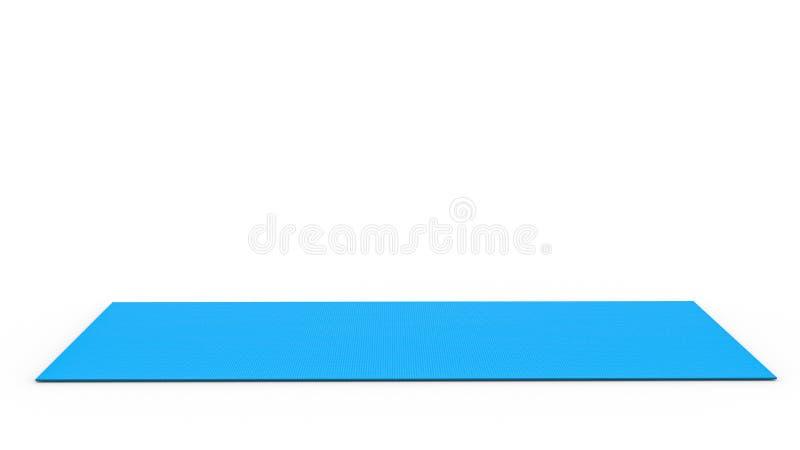 голубая йога циновки иллюстрация штока