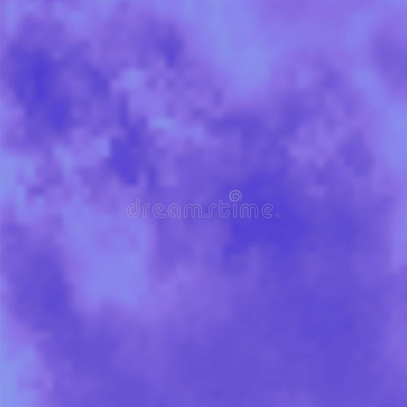 Голубая картина дыма или тумана Специальный эффект облака Естественное явление, загадочная атмосфера или туман иллюстрация штока