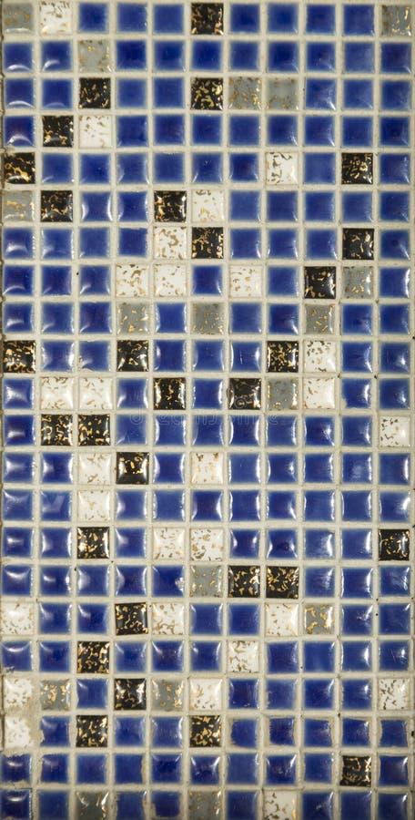 Голубая картина составленная керамических плиток стоковая фотография rf