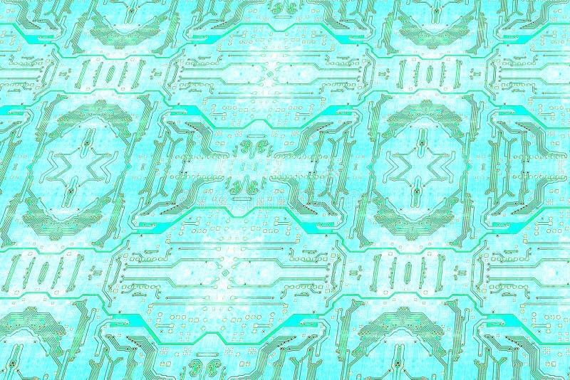 Голубая картина текстуры монтажной платы технология планеты телефона земли бинарного Кода предпосылки иллюстрация штока