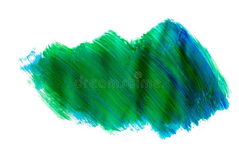 Голубая картина brushstroke акварели изолированная на белой предпосылке иллюстрация вектора