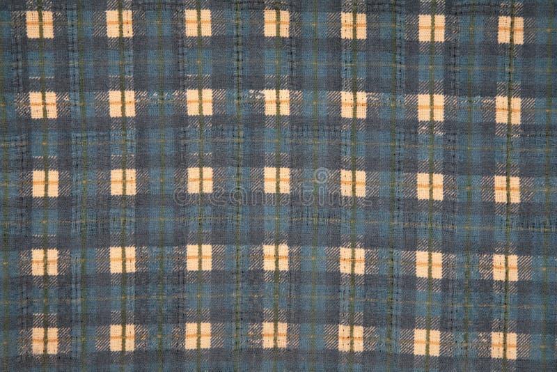 голубая квадратная текстура тканья стоковое изображение rf