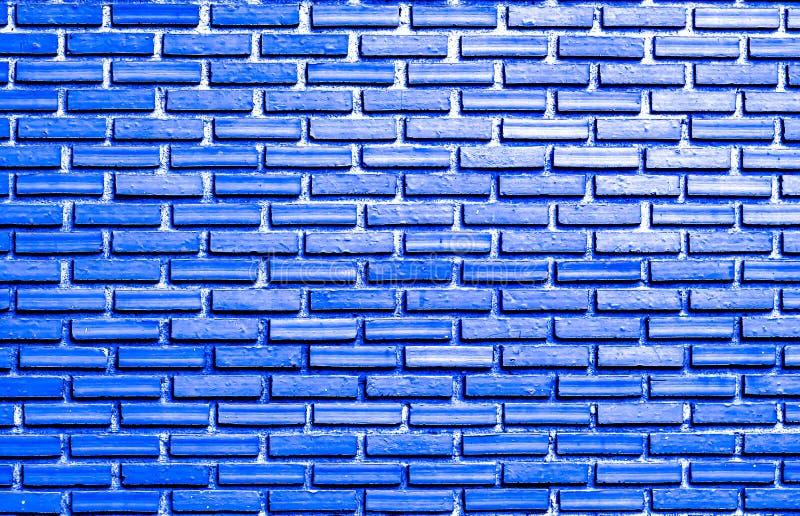 Голубая кирпичная стена для предпосылки стоковые фотографии rf