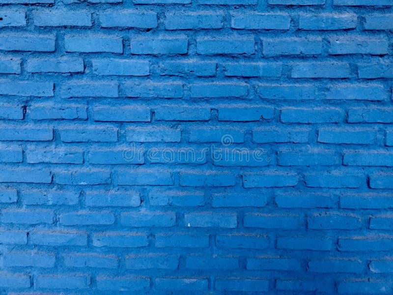 голубая кирпичная стена Справочная информация стоковая фотография rf