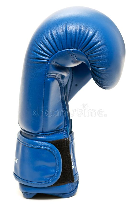 Голубая кладя в коробку перчатка стоковые фотографии rf