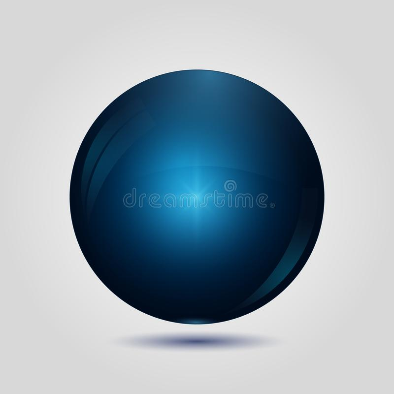 Голубая кнопка значка сети 3d иллюстрация штока