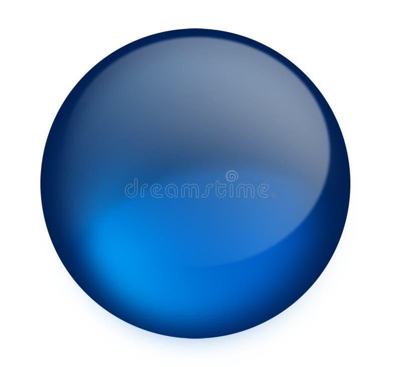 голубая кнопка иллюстрация вектора